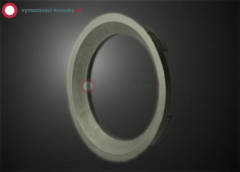 Vymezovací kroužek, vnitřní průměr 57.1 mm, vnější průměr 70.4 mm
