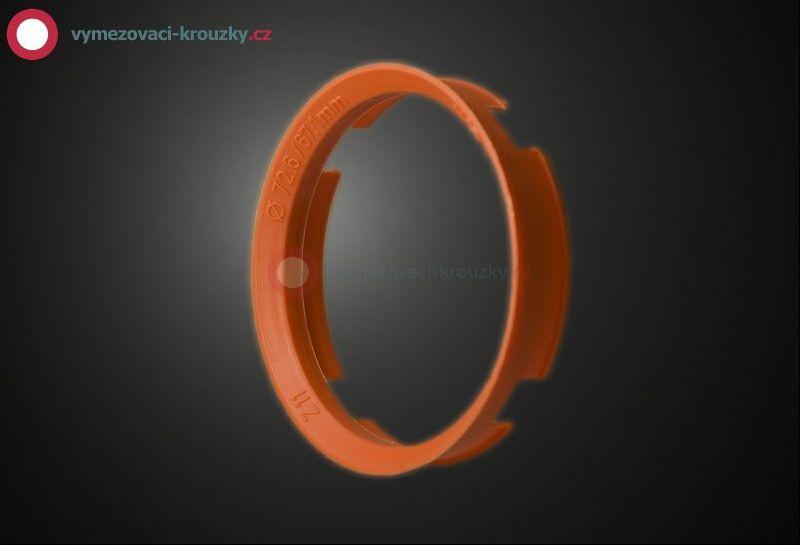Vymezovací kroužek, vnitřní průměr 67.1 mm, vnější průměr 72.6 mm